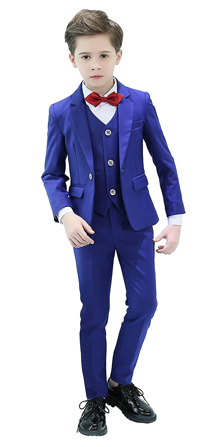 Iyan Boys Suits 5 Piece Slim Fit Suit,Ring Bearer Suits BS-002