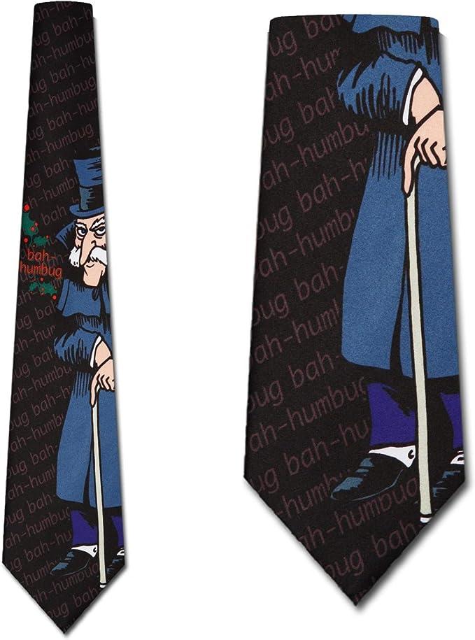 Scrooge Tie Mens Christmas NeckTies by Three Rooker