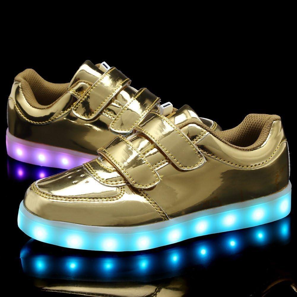 pit4tk Boy Girls Light Up Shoes Led Flashing Fashion Sneaker for Kids Toldder