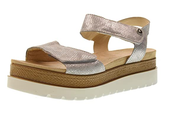 Schuhe Frau Sandalen mit Plattform 1280255 Silber Größe 37 Silber Enval soft 7Bu5yKqNEH