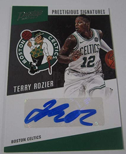 ec3884b9526 Image Unavailable. Image not available for. Color  2017-18 Panini Prestige Terry  Rozier Signed Autographed Card Boston Celtics ...
