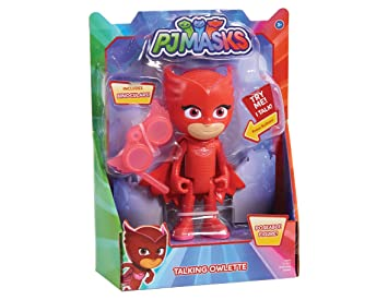 PJ MASKS Just Play Deluxe Talking Figure Owlette Toddler Toy Playsets, Red