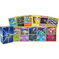 100 Assorted Pokemon Cards - 5 Rare Holographic Cards, 95 Commons/Uncommons - Authentic - Includes Golden Groundhog Deck…