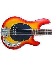 Benson Cardinal Red Music Man style electric bass guitar