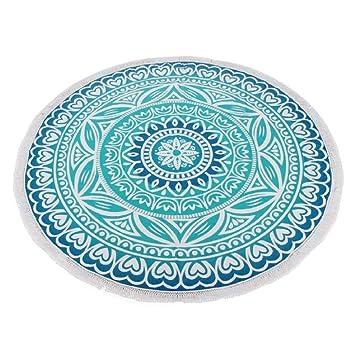 Toallas de playa, Sannysis Indian Mandala Roundie Beach Throw Tapestry Hippy Table Cloth Yoga Mat (B): Amazon.es: Hogar