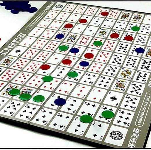 guoxuEE Juego de Juegos de Cartas de la Secuencia Juegos de Mesa ...