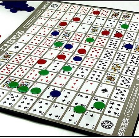 guoxuEE Juego de Juegos de Cartas de la Secuencia Juegos de Mesa Juego de Estrategia Árabe Blanco (2pcs): Amazon.es: Hogar