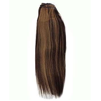 Amazon 14 inch diy clip in human hair extensions 427 brown 14 inch diy clip in human hair extensions 427 brownblonde pmusecretfo Choice Image