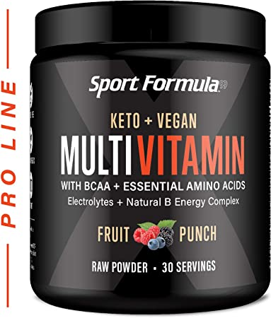 Vitamin Powder Bariatric Multivitamin Powder - Drink Mix for Men Women BCAA Amino Acids Won't Upset Your Stomach - Keto Vegan Multivitamin Fruit Flavor Electrolytes Super B Complex Digestive Enzyme