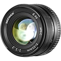 Neewer 35mm f/1.2 Large Aperture Aluminum Wide Angle Lens Manual Focus Prime Fixed APS-C Lens Compatible with Olypums Panasonic Micro 4/3 Mount Mirrorless Cameras with APS-C Live MOS Sensor