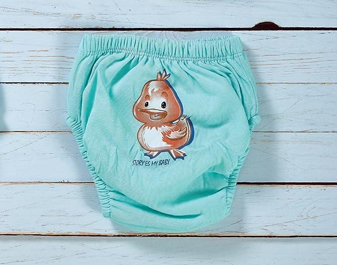 Juego de 6 Pantalones de Entrenamiento para Aprender a IR al ba/ño para ni/ños peque/ños OZYOL para Aprender a IR al ba/ño Tiere Junge 110 cm Reutilizables