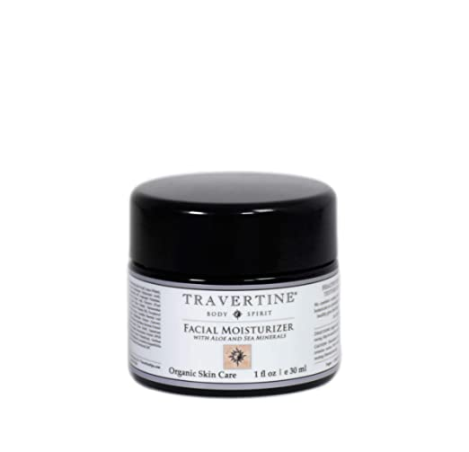The Travertine Facial Moisturizer travel product recommended by Terry Carter on Pretty Progressive.