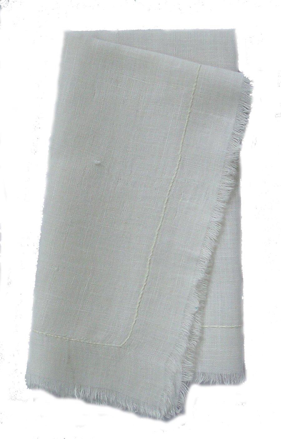 Gitika GoyalホームカーディChikanworkナプキンラインデザイン(セットof 4 ) NAPLINWH  ホワイト B009DSPH6C