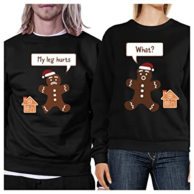 59037524e4 365 Printing Christmas Couple Sweatshirt Ideas Pullover Fleece:  Amazon.co.uk: Clothing