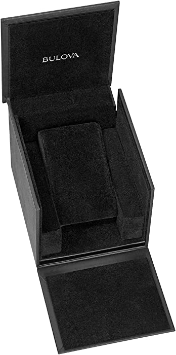 Bulova Men Swarovski Crystal Quartz Watch with TwoToneStainlessSteel Strap 22 Model 98C128