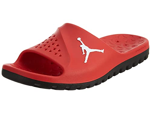 b16206b8432fb Nike Mens Jordan Super Fly Team Slide University Red Black White 9  Buy  Online at Low Prices in India - Amazon.in
