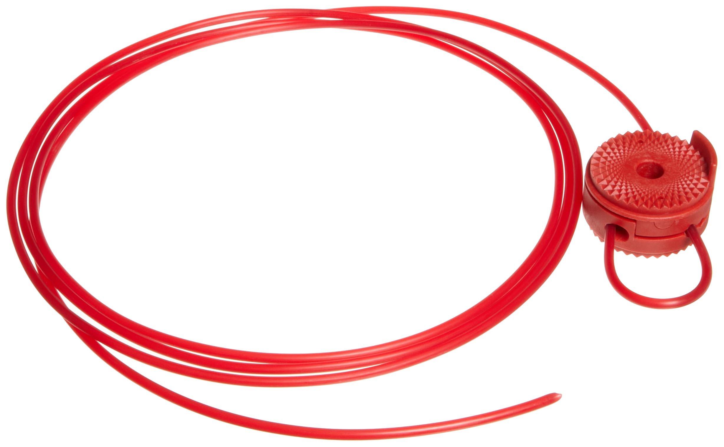 Brady Cable Lockout, 1/8'' Diameter, 8' Length, Nonconductive Nylon Cable