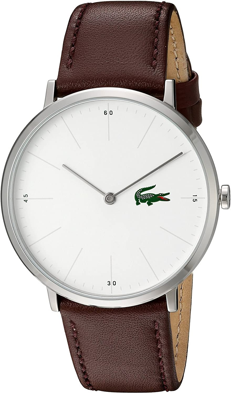 [ラコステ]Lacoste 腕時計 Quartz Stainless Steel and Leather Automatic Watch, Color:Brown 2010872 メンズ [並行輸入品]