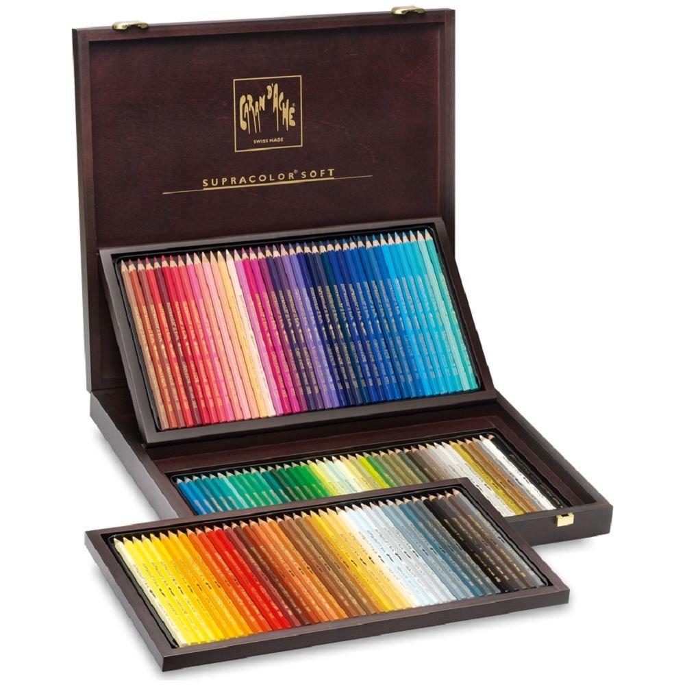 Caran d'Ache Supra Color Soft 120 color wooden box input 3888-920 (japan import)