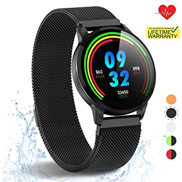 HuaWise Smartwatch with All-Day Heart Rate Monitor and Activity Tracking,Sleep Monitoring,Bluetooth Waterproof Smart Watch,Step Counter Pedometer and ...