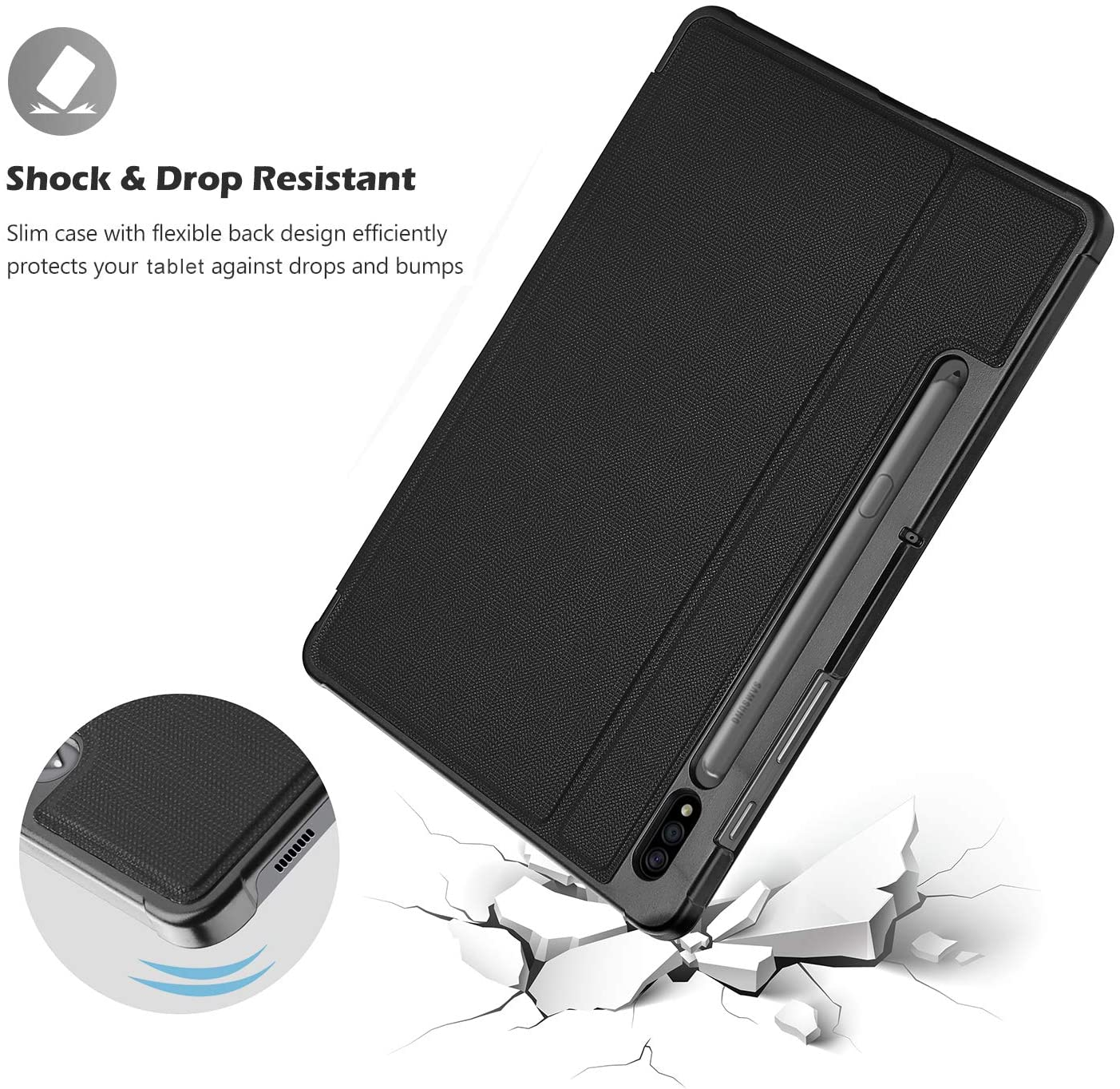 Lightweight Slim Protective Business Folio Cover with Pen Holder ...