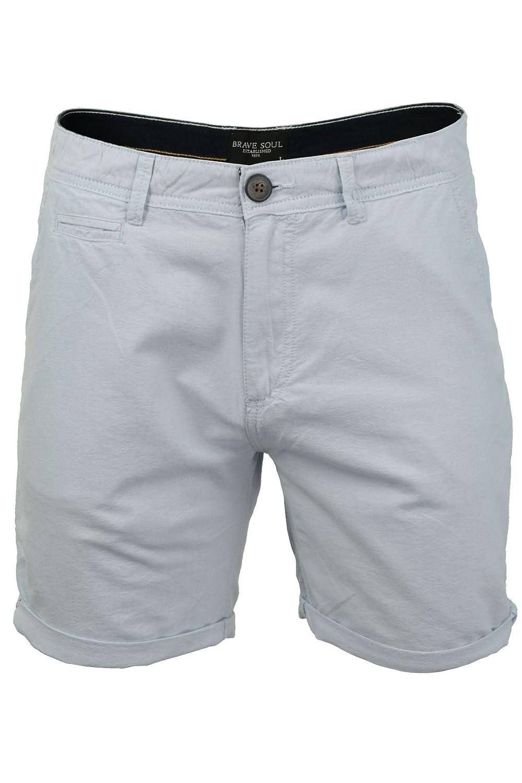 Brave Soul Oxford - Pantalones Cortos de algodón para Hombre, Azul pálido, Large