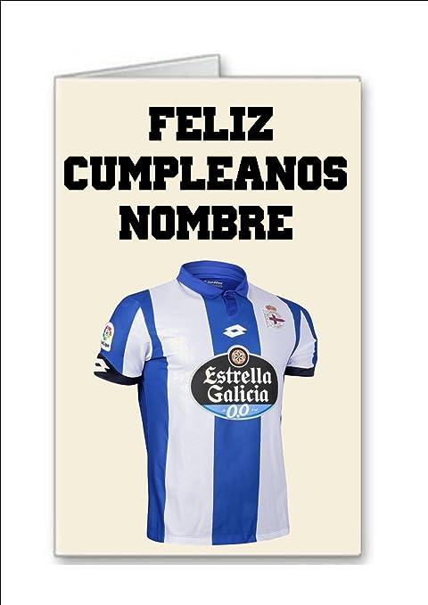 Tarjeta de cumpleaños del equipo de fútbol de Deportivo La ...