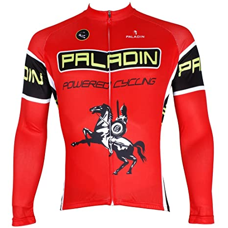 3acdc5017 PaladinSport Men s Long Sleeve Cycling Jersey Spring and Summer and Autumn  Style 100% Polyester SQ537