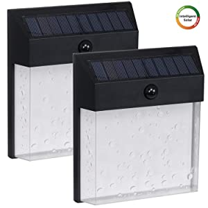 Westinghouse Intelligent Solar Motion Sensor Lights Outdoor 60 LEDs 1200 Lumens Wireless Waterproof Security LED Wall Lamp for Garden, Patio, Yard, Driveway, Garage, Hallway,Porch, Pathway(2 Pack)