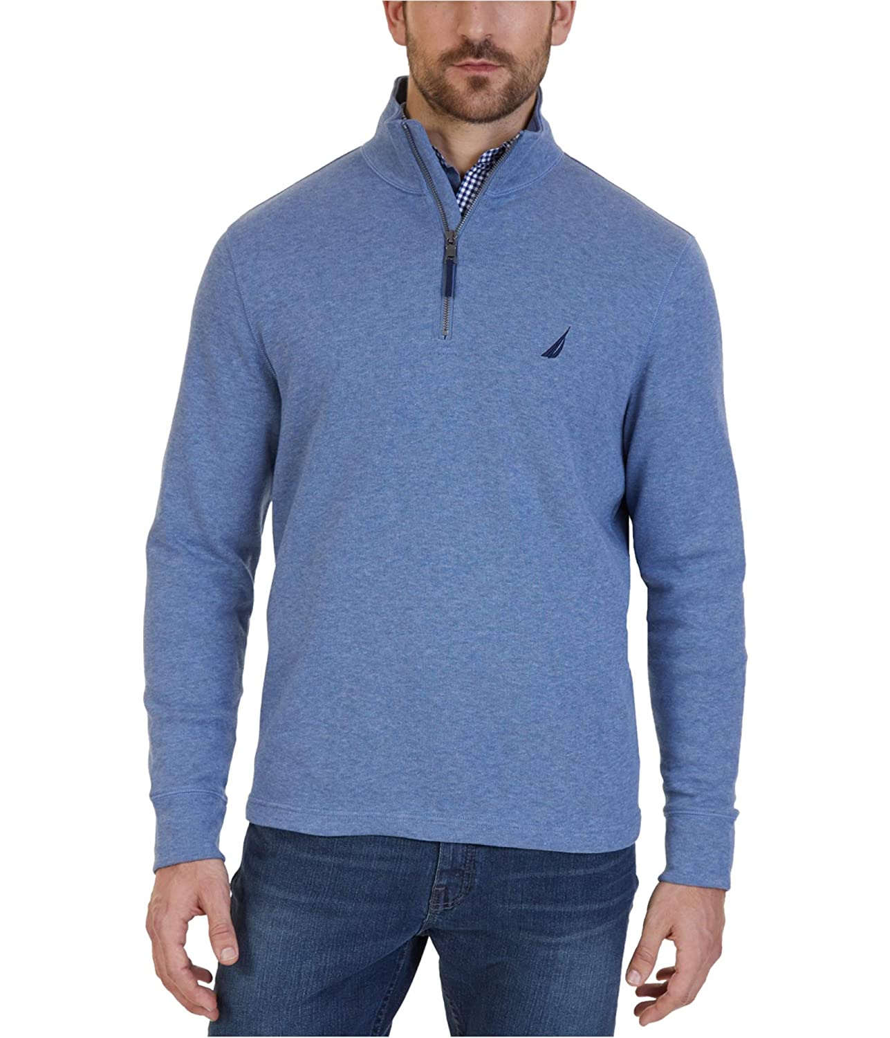 Nautica Mens Heathered Pullover Sweater