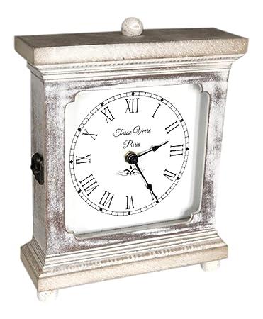 Amazon.com: Reloj de madera rústica para mesa o escritorio ...