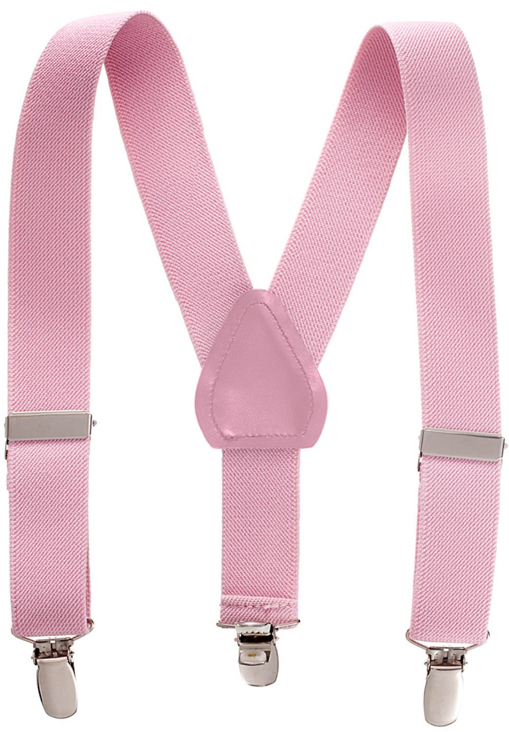 Suspenders for Kids - 1 Inch Suspender Perfect for Tuxedo - Light Pink (30'')