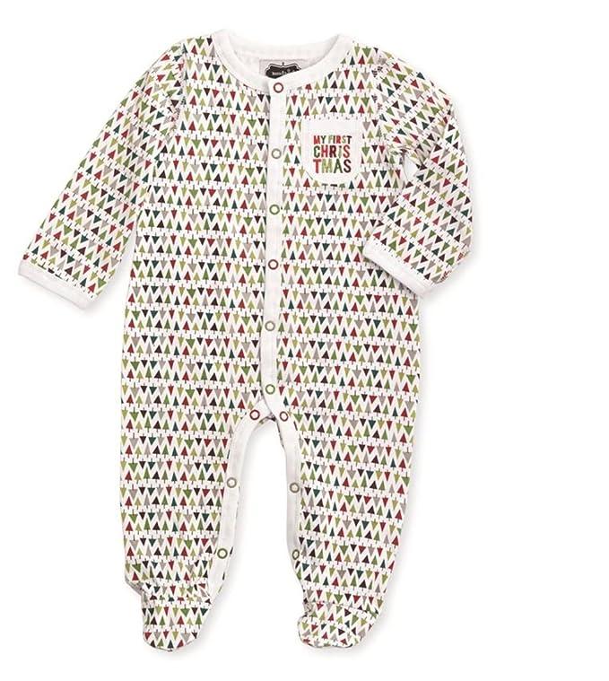 a1dc7e7e27 Amazon.com  Mud Pie Baby Boys My First Christmas Footed Sleeper  Clothing