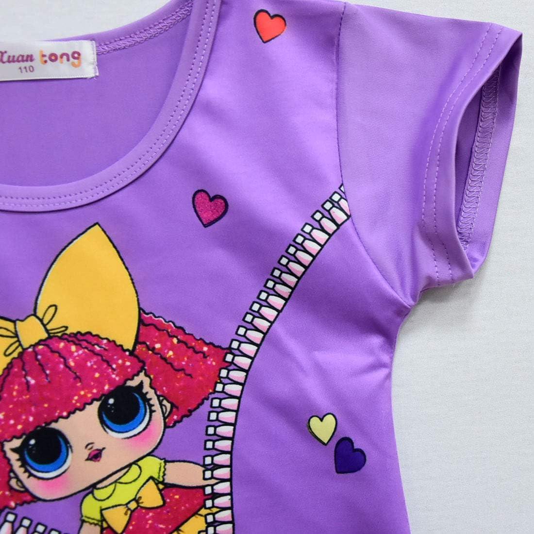 BT Willing Purple Nightie Or Shortie Dolls Confetti Pop Nightie Dresses for Girls Lil Outrageous Littles Pyjama