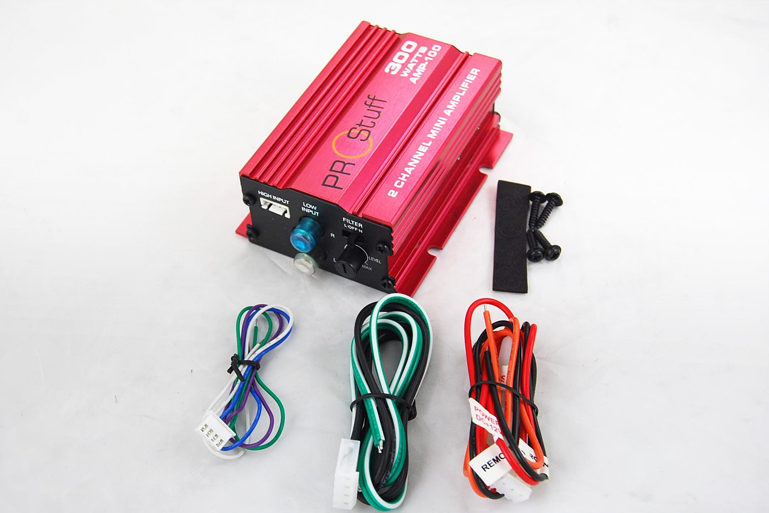 Prostuff AMP-100 300 Watt 2CH Mini Amplifier for Car and Motorcycle by Nova (Image #3)
