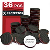 X-Protector Grippers Premium 36 pcs 1 Best Non Slip Pads Rubber Feet Floor Protectors for Keep in Place Furniture Stoppers, Black