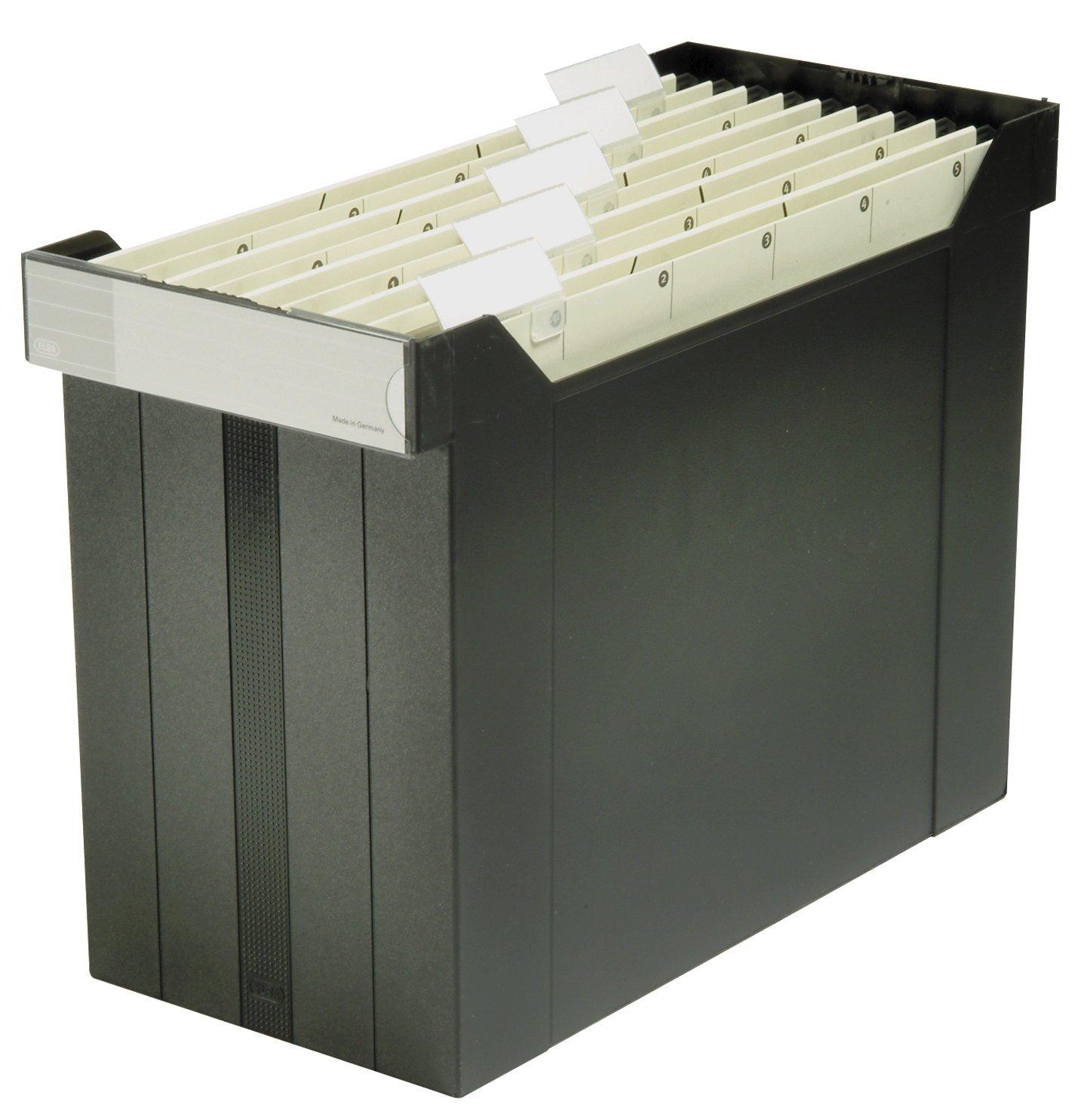 Elba 80491 - Portacartelle sospese Go-Fix 1000, 8 cartelle sospese incluse, 1 pezzo, nero Hamelin Brands 400005232