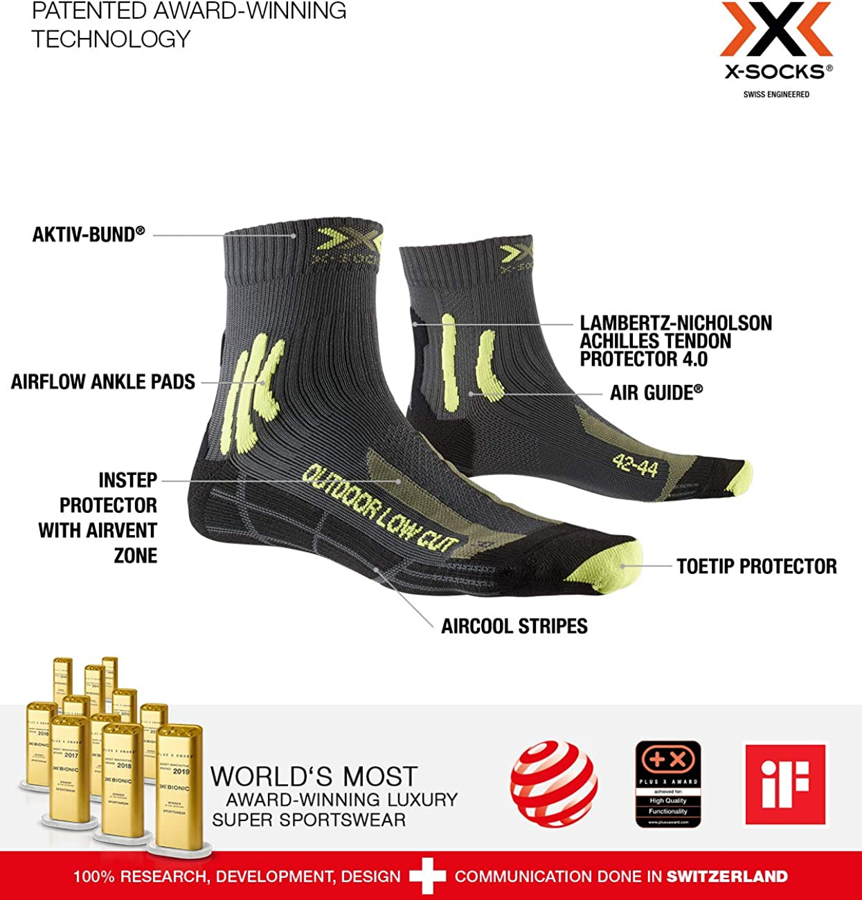 X-Socks Trek Outdoor Low Cut Men Socks Socks Calze Calza Calzini Uomo