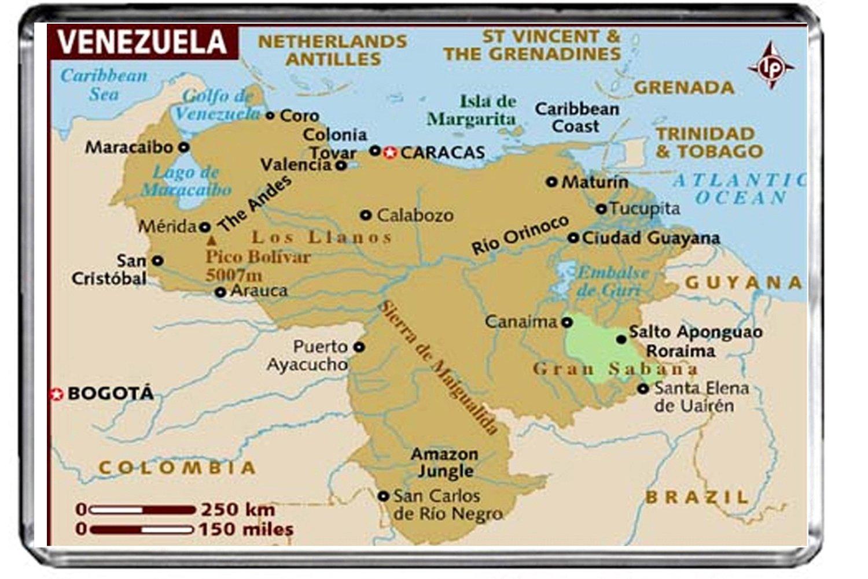 M225 MAP OF VENEZUELA FRIDGE MAGNET VENEZUELA TRAVEL REFRIGERATOR MAGNET