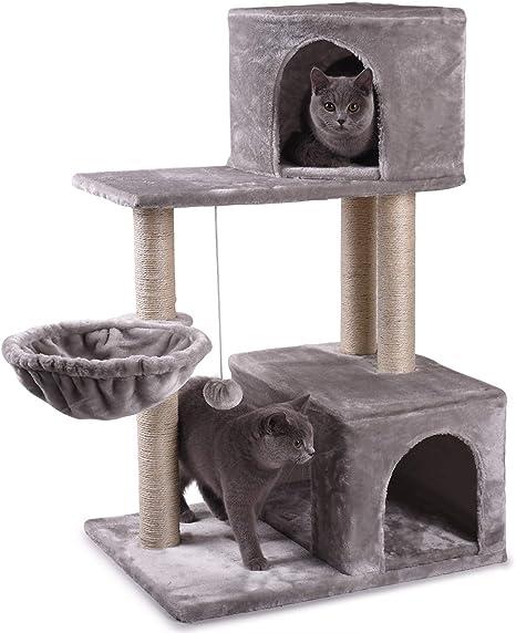 NOVA JUNS Árbol para Gatos, Torre para Gatos con Postes de ...