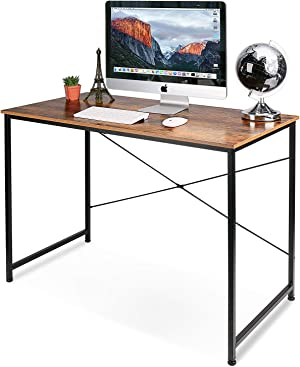 Writing Computer Desk Modern Simple Study Desk Industrial Style Laptop Table for Home Office, Rustic Brown