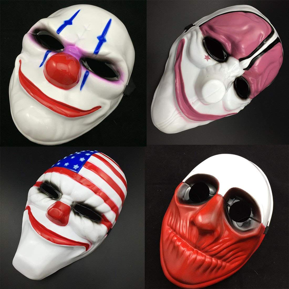 Clown Mask - Style 1pc Pvc Scary Clown Mask Halloween Mascara Carnaval Fancy Dress Costume - Slipknot Hair Woman Mouth Chinless From Plastic Half Dark ...