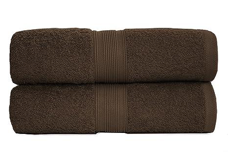 Juego de 2 unidades toallas de ducha, tejido de rizo, 70 x 140 cm