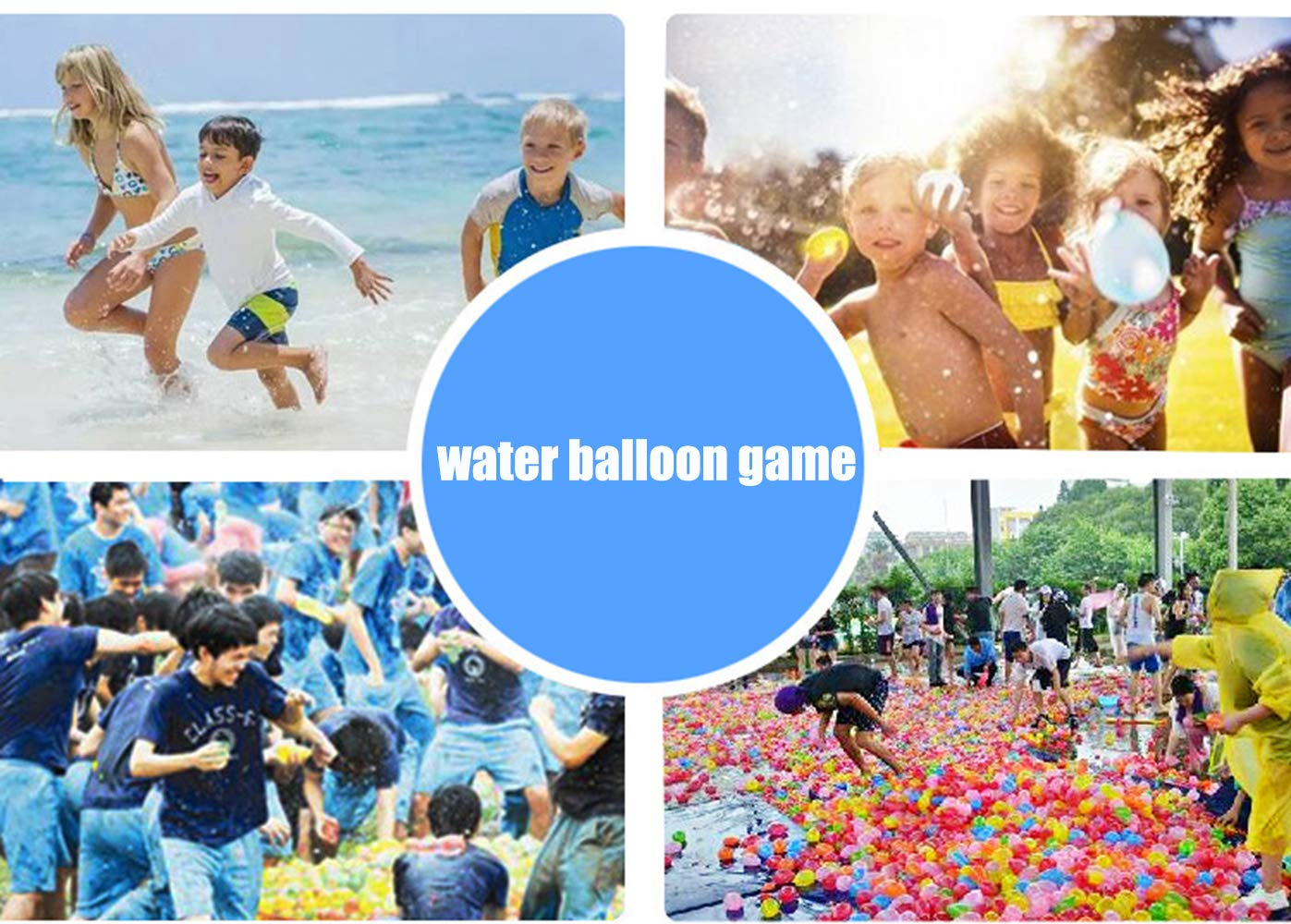 BBKING Water Balloons Multi Color Water Balloons for Kids Toys Summer Games Outdoor Game (8set-888pcs Water Balloons) by BBKING (Image #3)