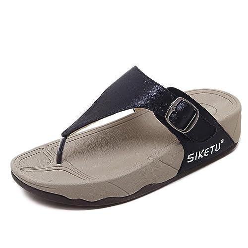 fa708f54e7 KUONUO Chanclas Mujer, Plataforma de la Cuña Sandalias de Las Chanclas  Zapatillas: Amazon.es: Zapatos y complementos