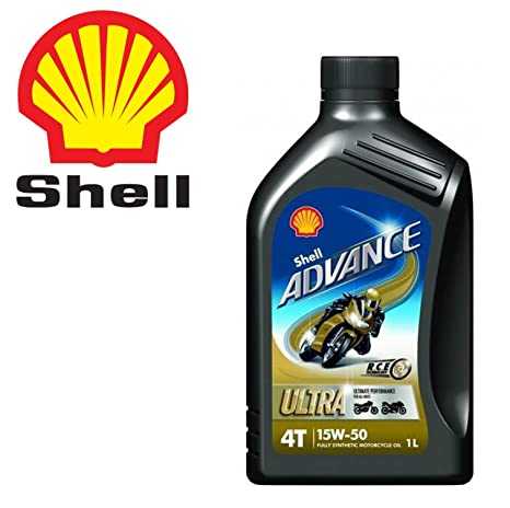 2 litros aceite moto scooter 4T Shell Advance Ultra sintético 15 W50