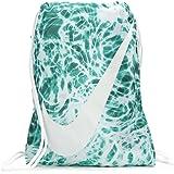 NIKE Young Athlete Drawstring Gymsack Backpack Sport Bookbag (Emerald  Splash Graphics White Signature Large 6263e6956f341