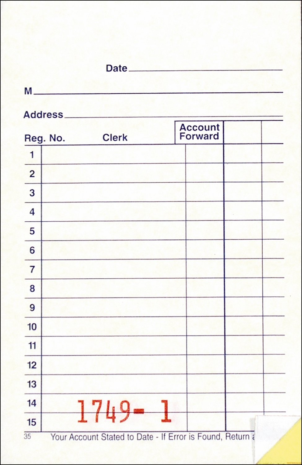 Adams General Purpose Sales Book, Carbonless, 5.63 x 3.34 Inches, White and Canary, 50 sets per pad, 3 pack (DC3530) TOPS Business Forms Inc.