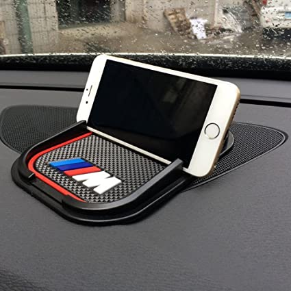 BMW M Sport Car Anti Slip Mat Accessory Phone Holder Dashboard Gripper Blue Pad