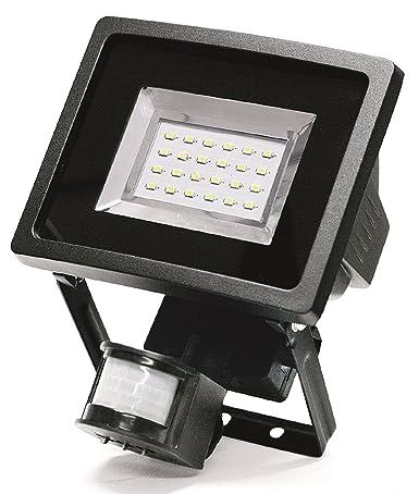 Foco proyector con iluminación LED y sensor de movimiento 1000 lumen nuevo diseño